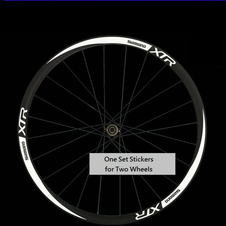 Bicycle Cycling Sticker Decal blue Shimano