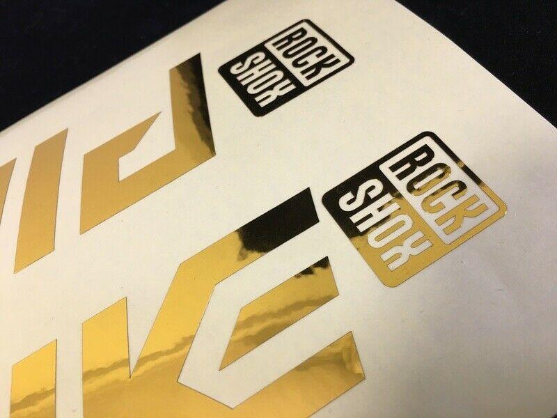 Matt Gold//Matt Black Design Rock Shox Pike Ultimate 2020 Fork Decal Kit