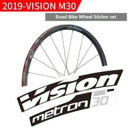 VISION METRON 55 RIM DECALS SET FOR TWO WHEELS CANNONDALE GREEN
