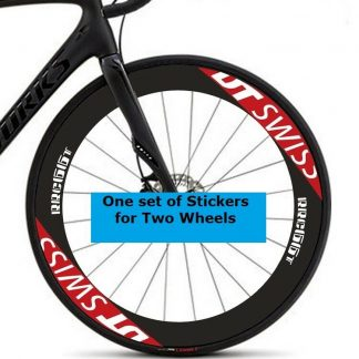 BONTRAGR aeolus 9 Wheel Decal Rim Stickers for 90mm Road Bike Cycle 2RIMS WHITE