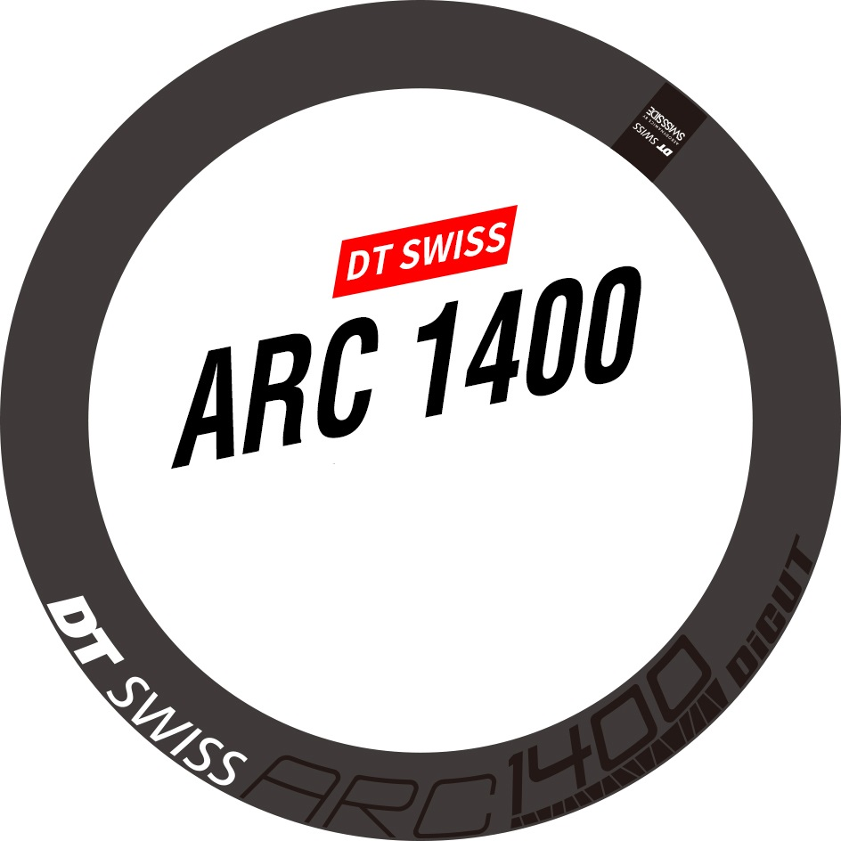 DT SWISS ARC 1400 RIM DECAL SETS for 60mm two wheels