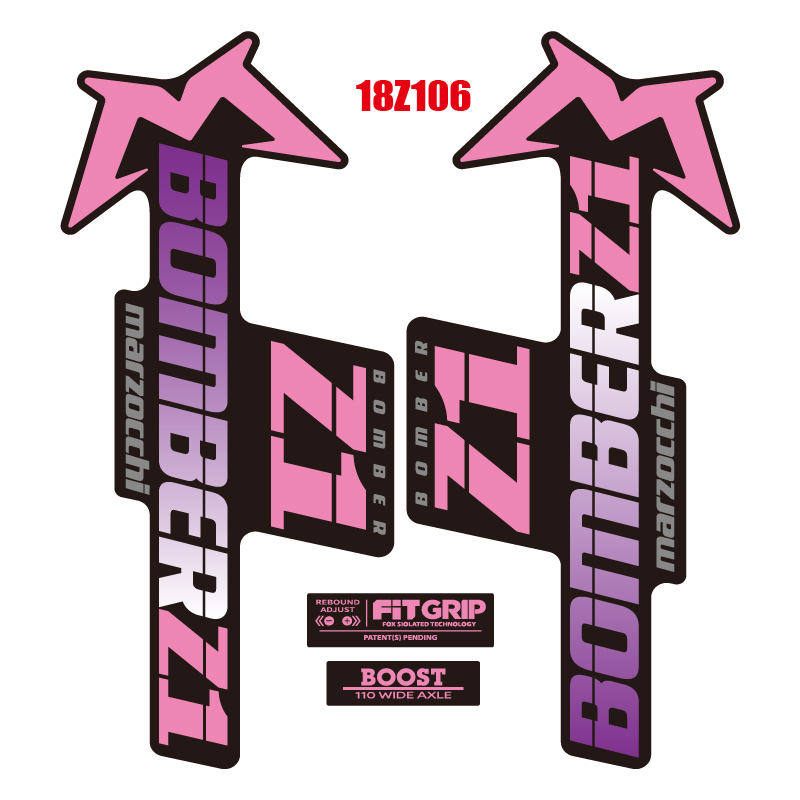 """5/"""" MARZOCCHI BOMBER Mountain Bike Bicycle DECAL STICKER"""