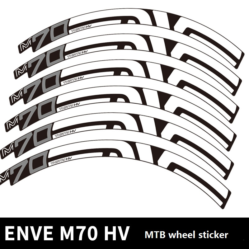 Two Wheel Sticker for M60 FORTY MTB Mountain Bike Rim Cycling Decal