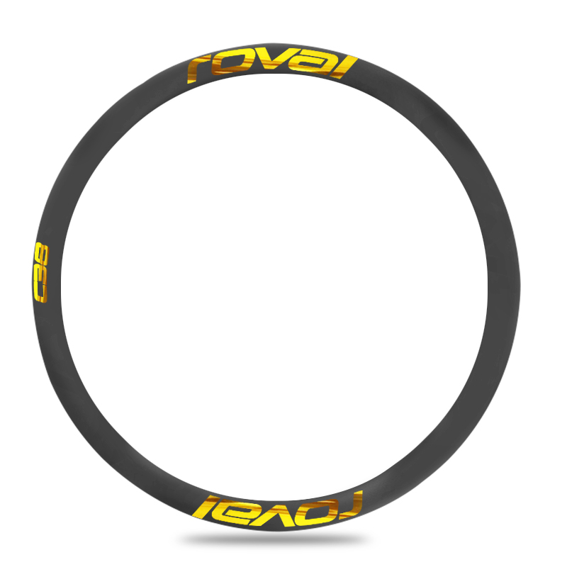 38mm Road Bicycle Disc Brake Rim Wheel Stickers Cycle Reflective Decal for ROVAL