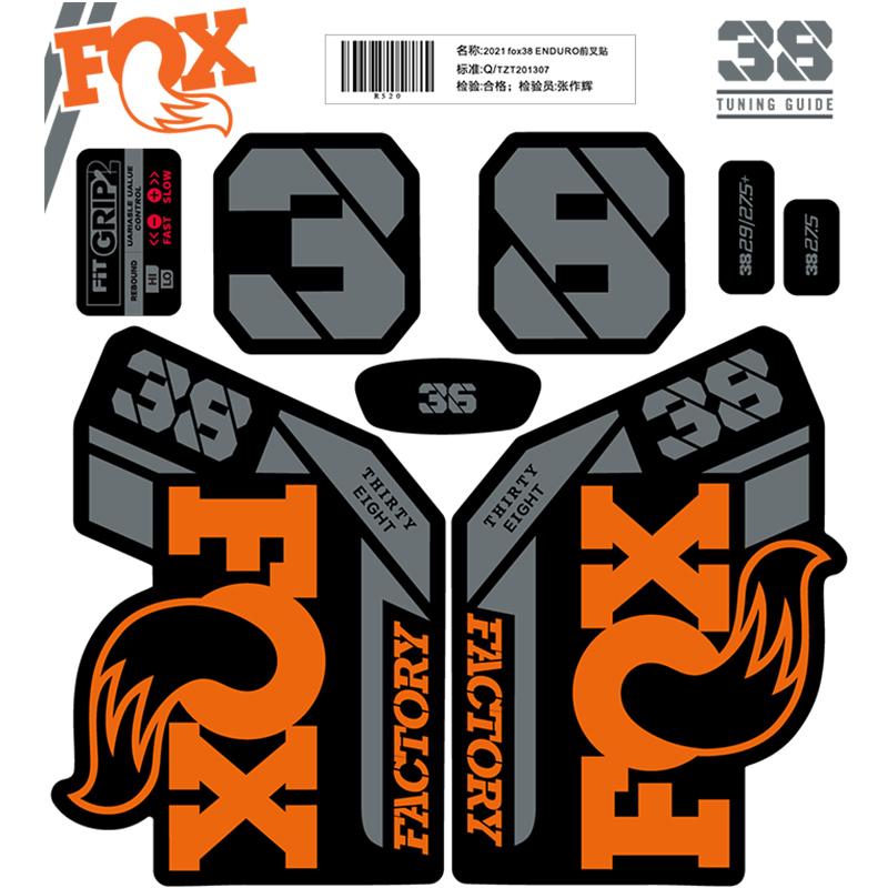 2021 Fox38 ENDURO Fork Sticker for MTB Mountain Bike Bicycle Fox38 Cycling Decal